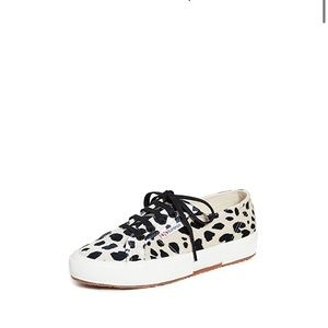 Superga 2750 animal print lace up sneakers